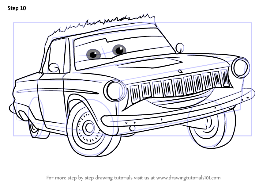 Learn How To Draw Rusty Rust Eze From Cars 3 Cars 3 Step