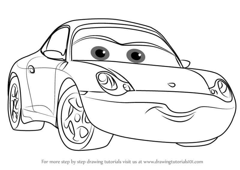 Learn How to Draw Sally from Cars