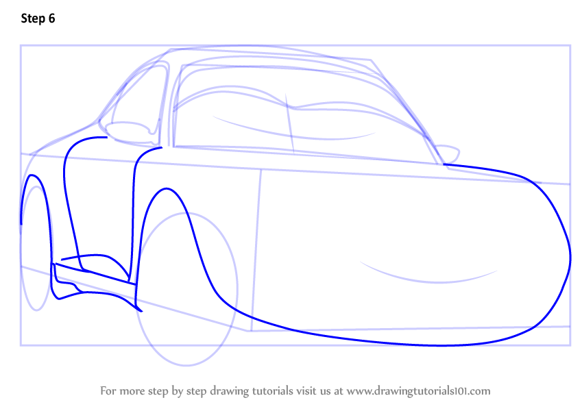 Learn How To Draw Sally From Cars 3 Cars 3 Step By Step