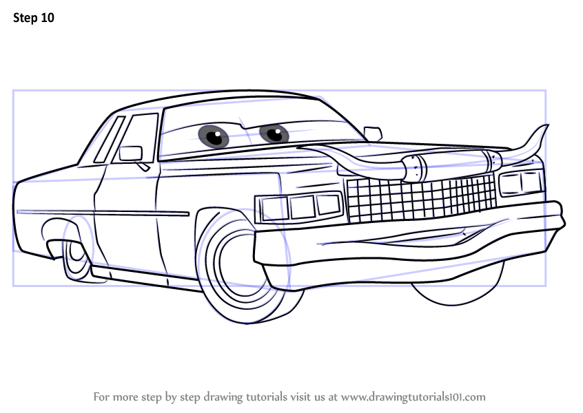 Learn How To Draw Tex Dinoco From Cars 3 Cars 3 Step By
