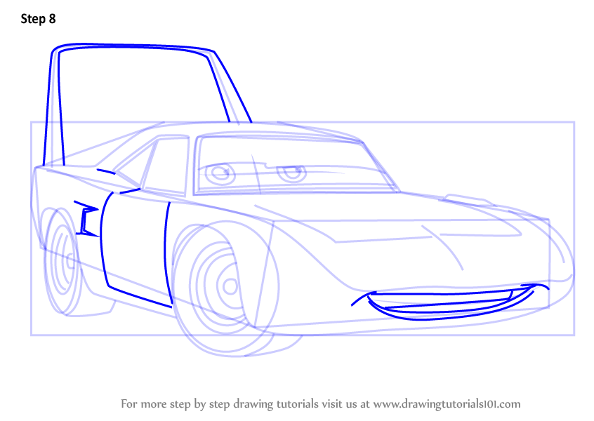 Learn How To Draw The King Aka Strip Weathers From Cars 3