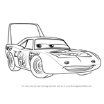 How to Draw The King aka Strip Weathers from Cars 3