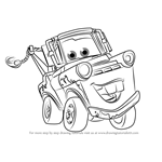 How to Draw Tow Mater from Cars 3