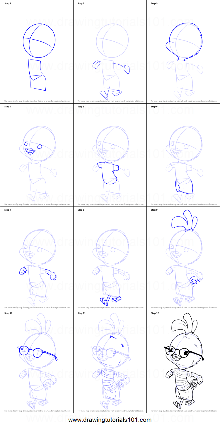 Uncategorized How To Draw A Chicken Step By Step how to draw chicken little printable step by drawing sheet drawingtutorials101 com