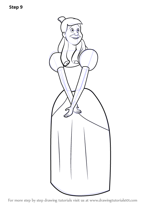 Learn How To Draw Anastasia From Cinderella Cinderella