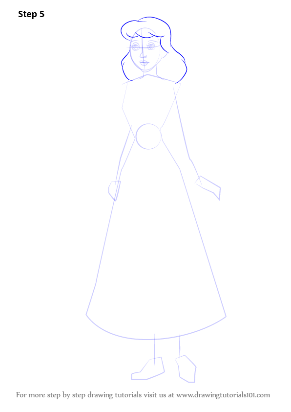 learn how to draw peasant cinderella  cinderella  step by step   drawing tutorials