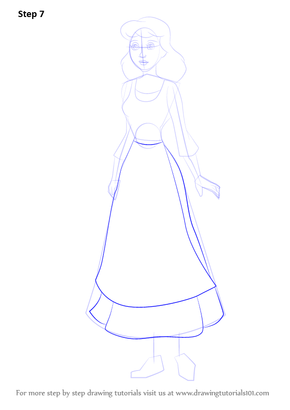 Learn How To Draw Peasant Cinderella Cinderella Step By