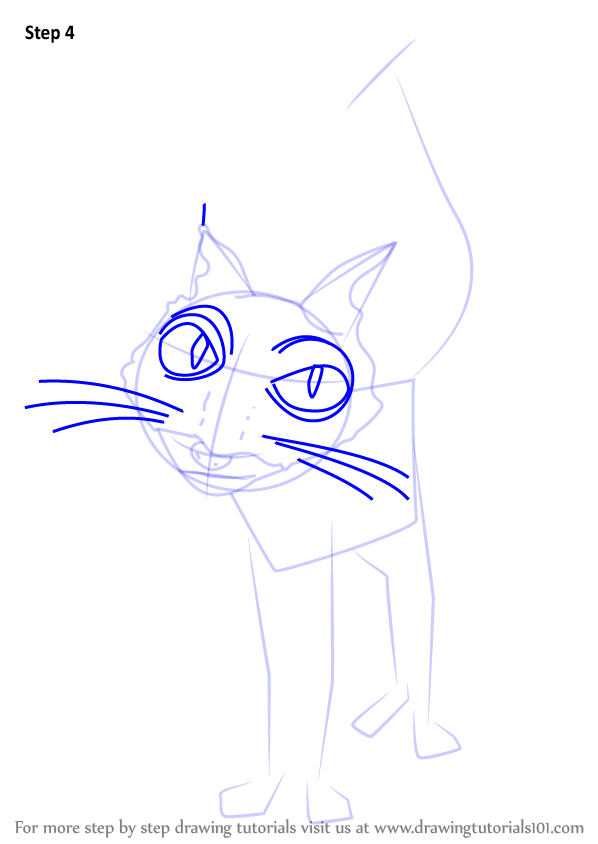 Step by Step How to Draw Cat from Coraline ...
