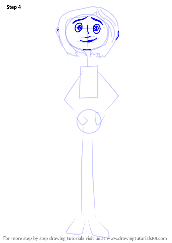 Learn How To Draw Coraline Jones From Coraline Coraline Step By Step Drawing Tutorials