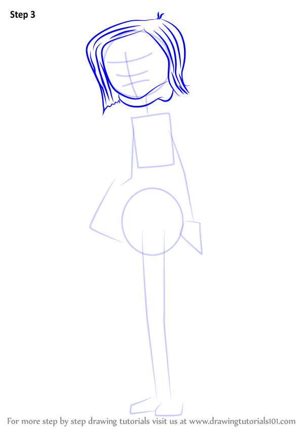 Learn How To Draw Mel Jones From Coraline Coraline Step By Step Drawing Tutorials