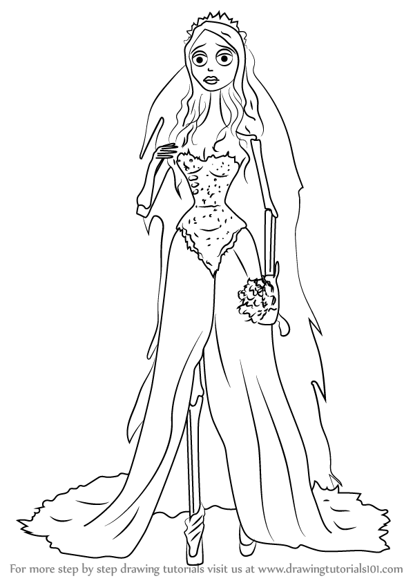 anime corpse bride coloring pages