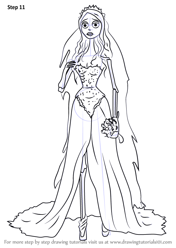 learn how to draw emily from corpse bride corpse bride