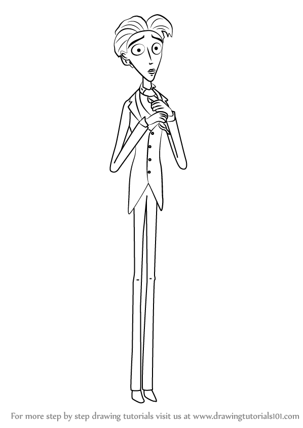 Emily And Victor The Corpse Bride Coloring Pages Coloring ...