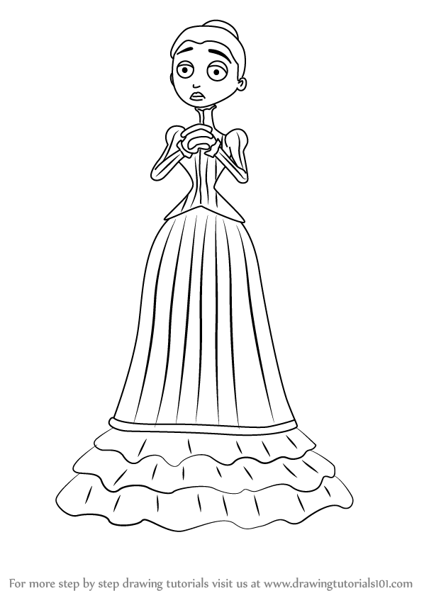 Learn How To Draw Victoria Everglot From Corpse Bride
