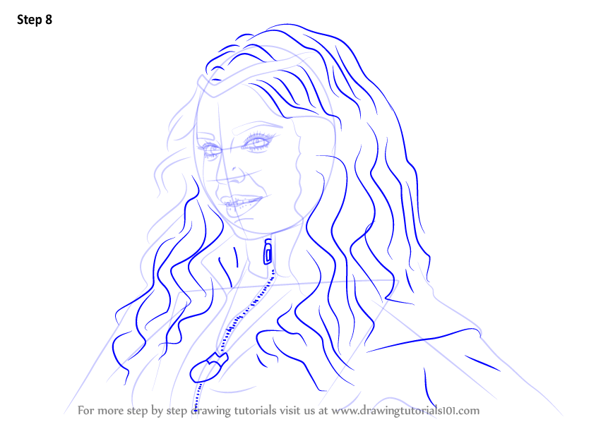 Learn How To Draw Evie From Descendants Descendants Step By Step