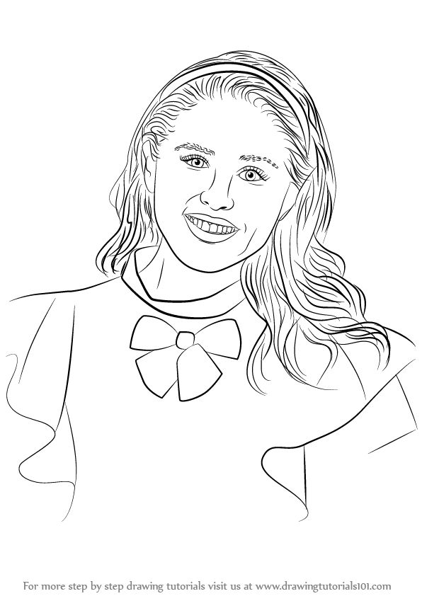 Learn how to draw jane from descendants descendants step for Dove cameron coloring pages