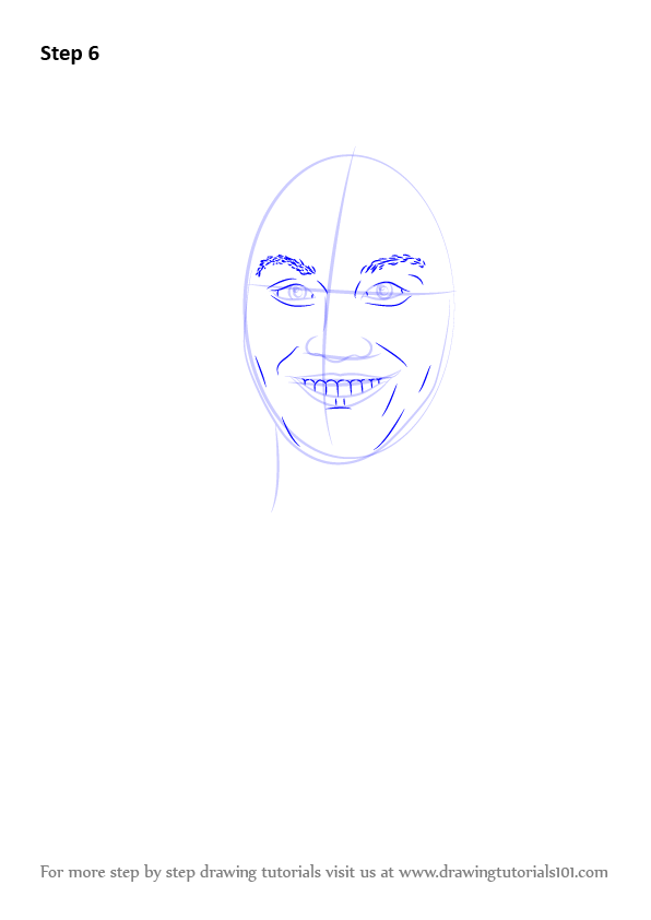 how to draw Lonnie from Descendants step 6