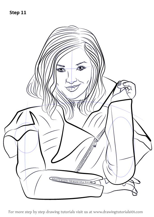 Learn How To Draw Mal From Descendants Descendants Step