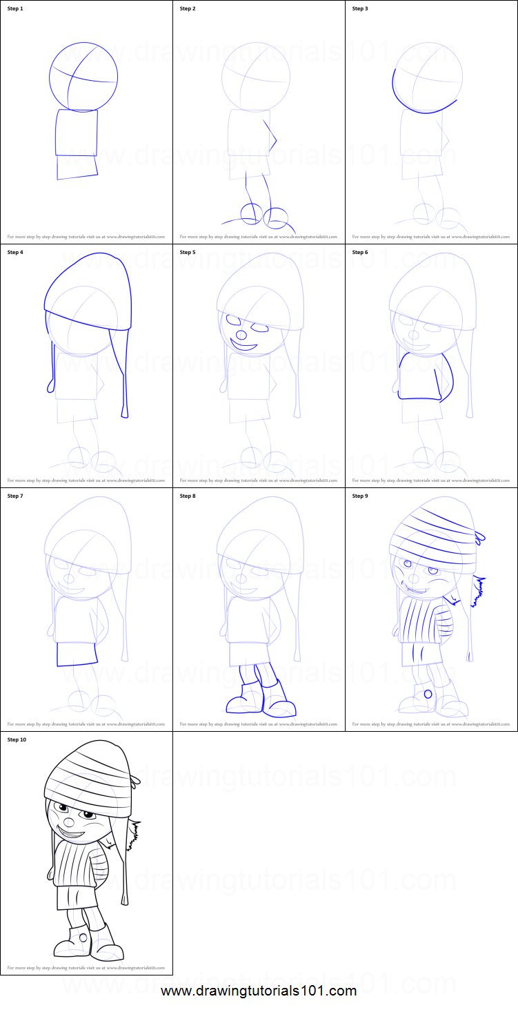 How to draw edith from despicable me printable step by step drawing how to draw edith from despicable me altavistaventures Images