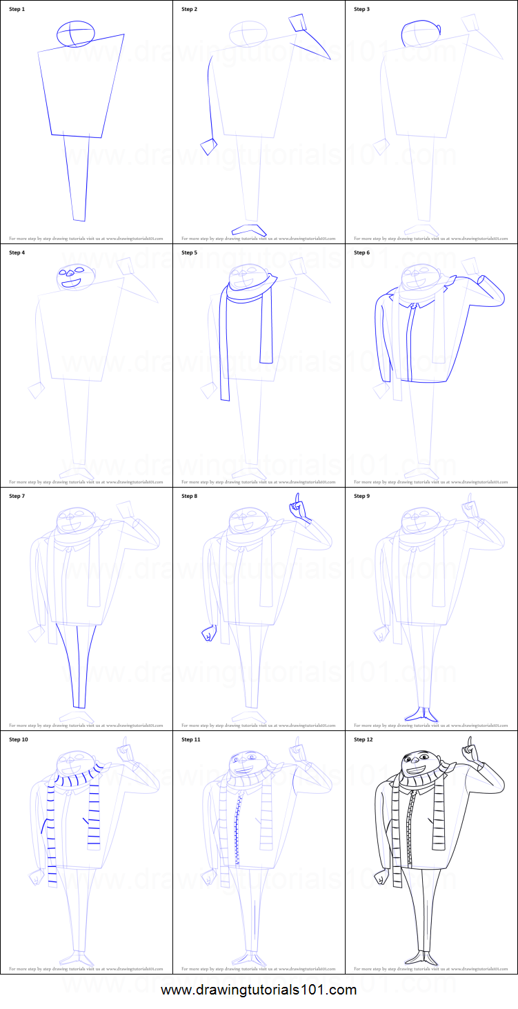How to draw gru from despicable me printable step by step drawing how to draw gru from despicable me altavistaventures Images