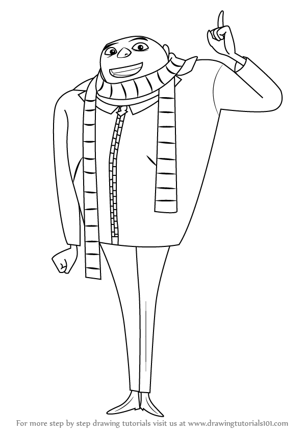 Learn how to draw gru from despicable me despicable me for Gru coloring pages