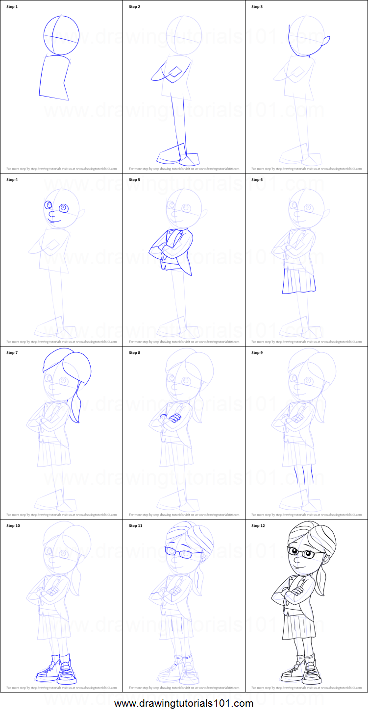 How to Draw Margo from Despicable Me printable step by step