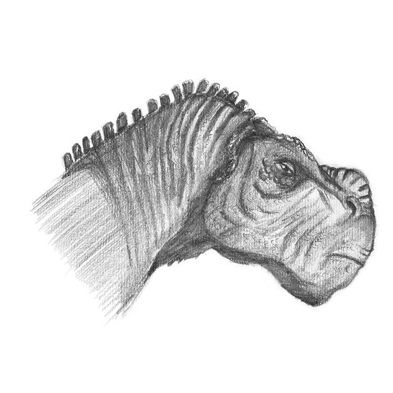 Kron from Disney Dinosaur Pencil Drawing - How to Sketch ...