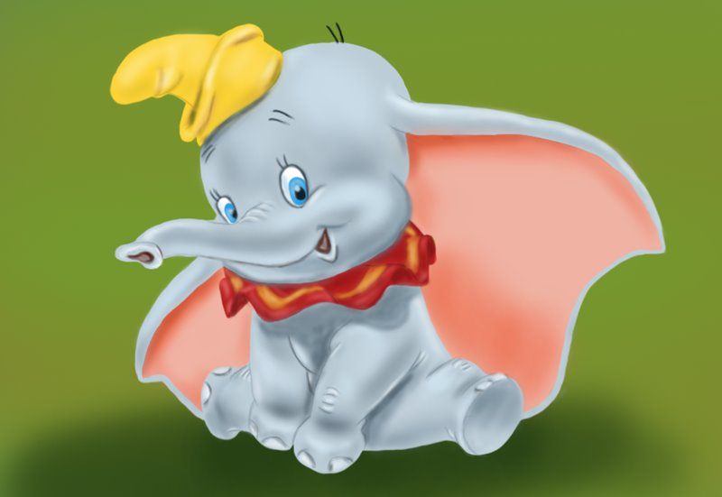 learn how to draw dumbo elephant from dumbo dumbo step by step