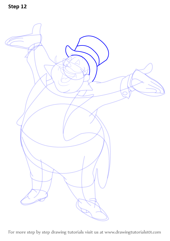Step By Step How To Draw The Ringmaster From Dumbo