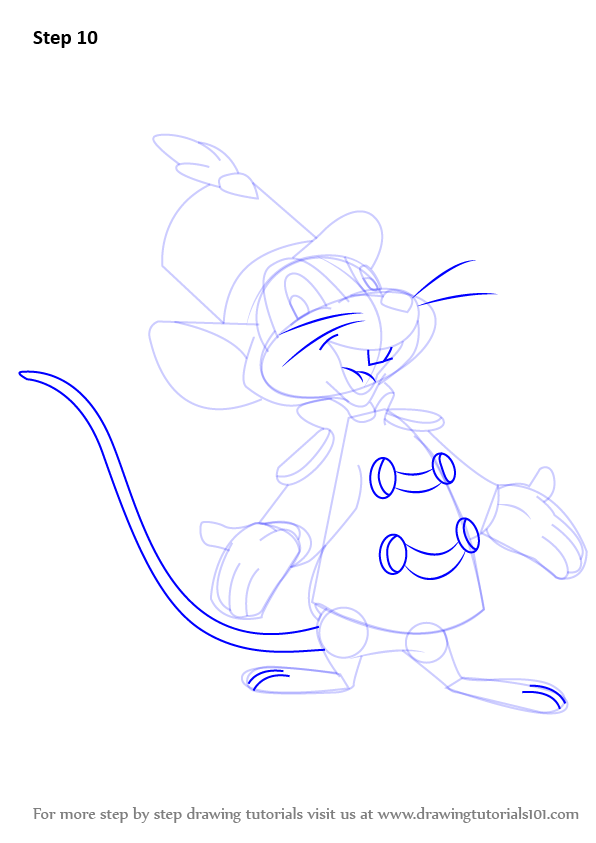Learn How To Draw Timothy Q Mouse From Dumbo Dumbo Step