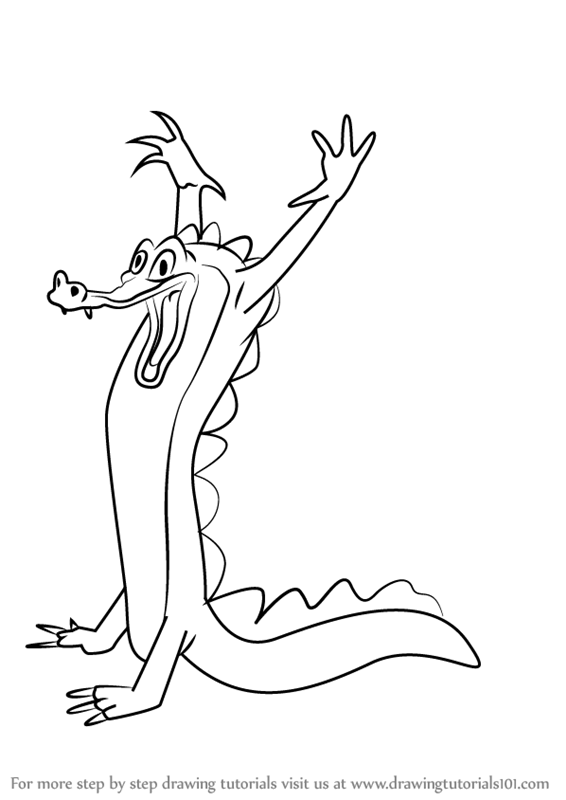 Learn How To Draw Ben Ali Gator From Fantasia Fantasia
