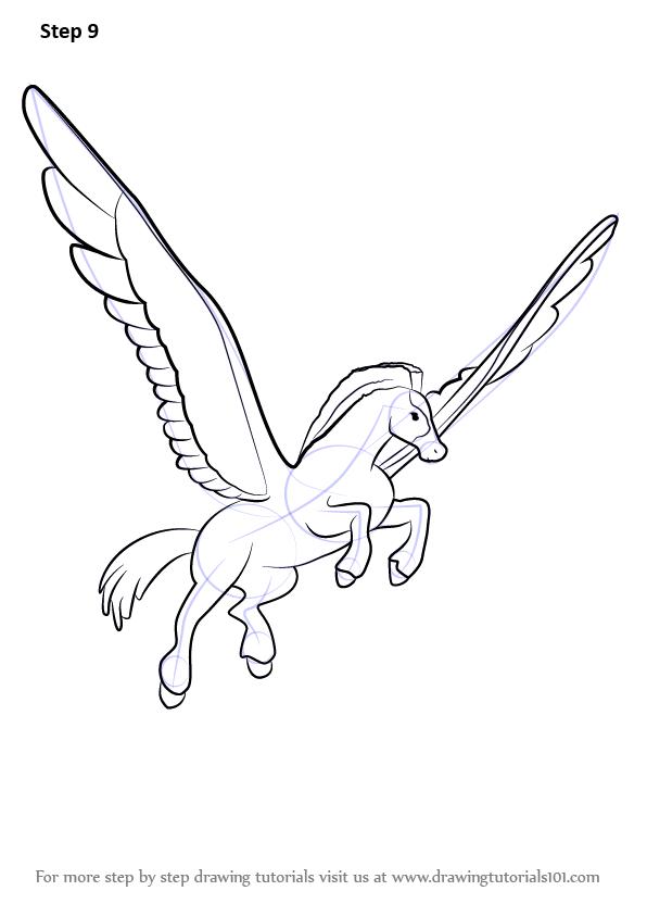 Learn How To Draw Father Pegasus From Fantasia Fantasia