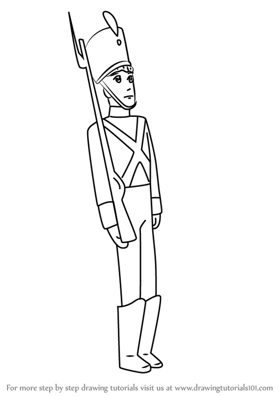 Learn How to Draw Tin Soldier from Fantasia (Fantasia) Step