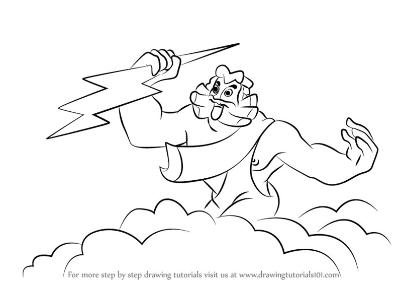 Learn How To Draw Zeus From Fantasia Fantasia Step By Step