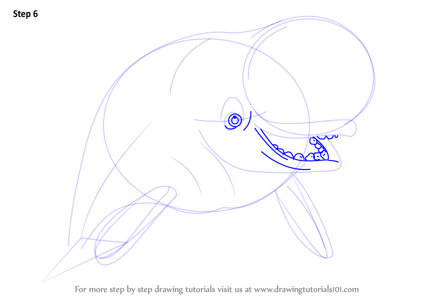 how to draw finding dory characters