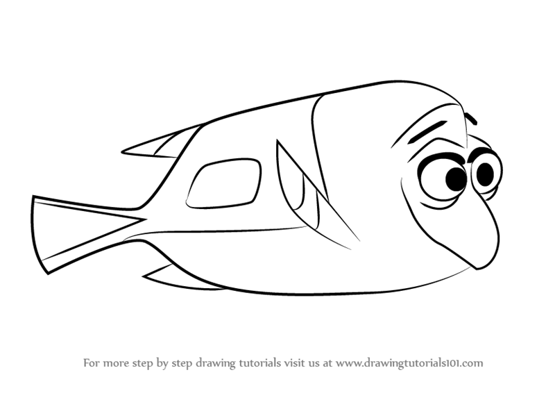 Learn How To Draw Charlie From Finding Dory Finding Dory
