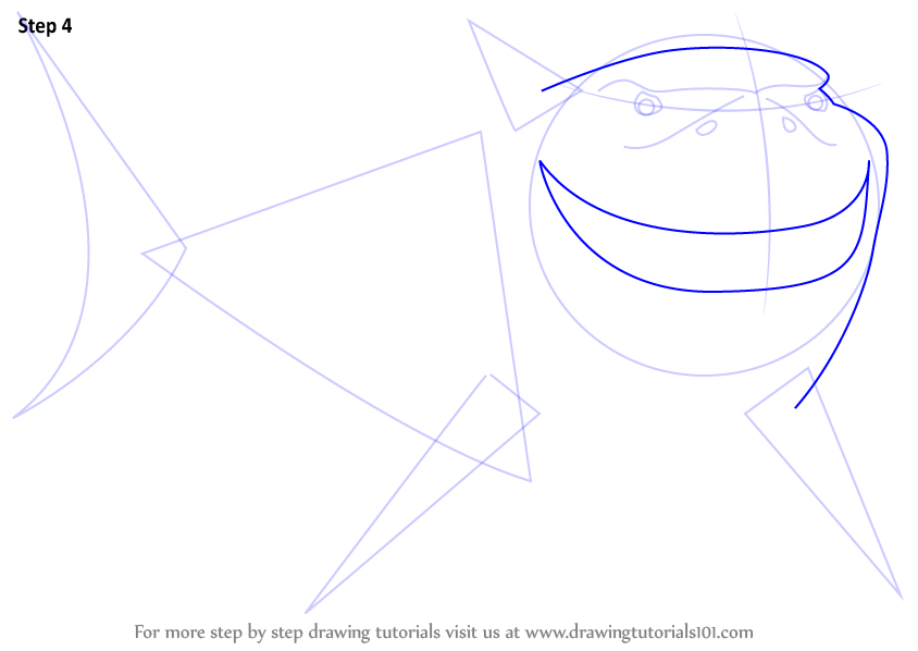 how to draw shark from finding nemo