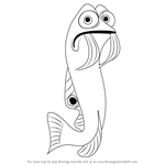 How to Draw Gurgle from Finding Nemo