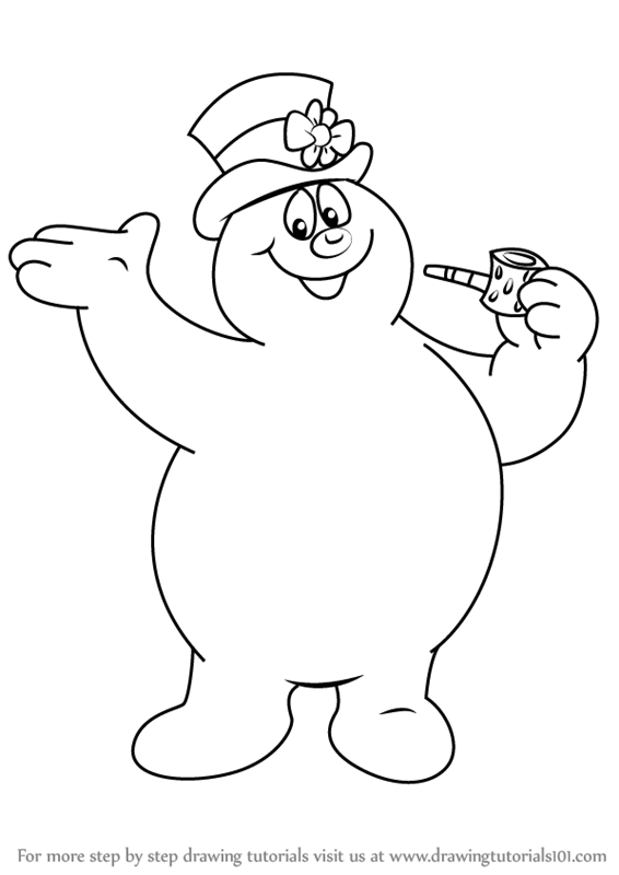 Step by Step How to Draw Frosty from Frosty the Snowman