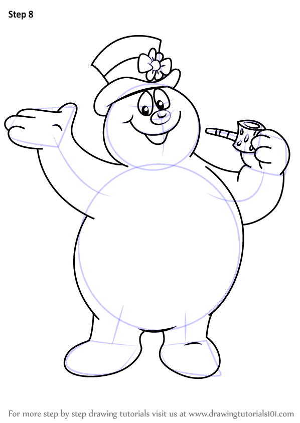 Step by Step How to Draw Frosty from Frosty the Snowman ...