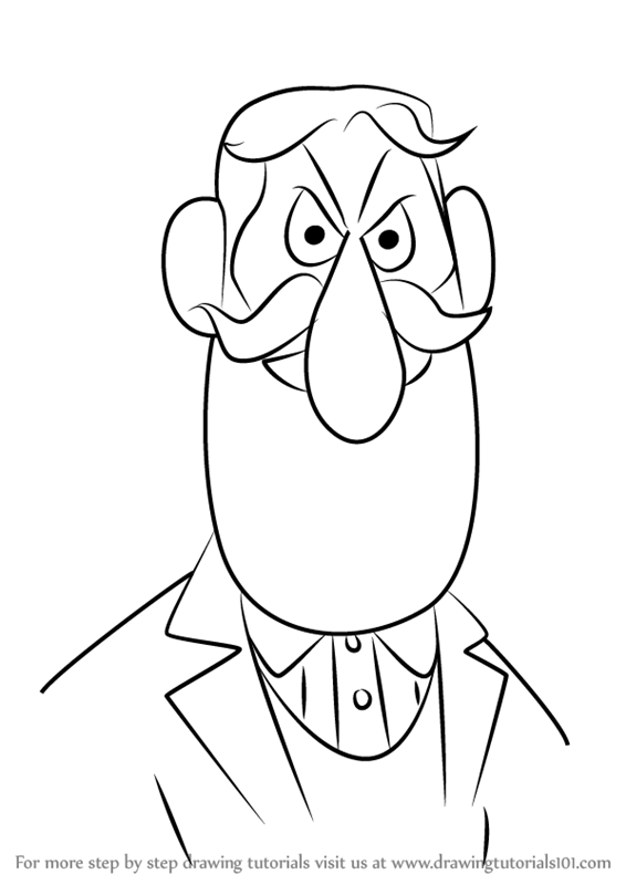learn how to draw professor hinkle from frosty the snowman