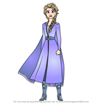 How to Draw Elsa from Frozen 2