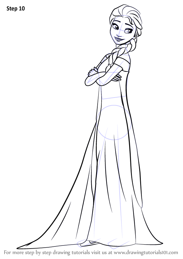 Learn How To Draw Elsa From Frozen Fever Frozen Fever