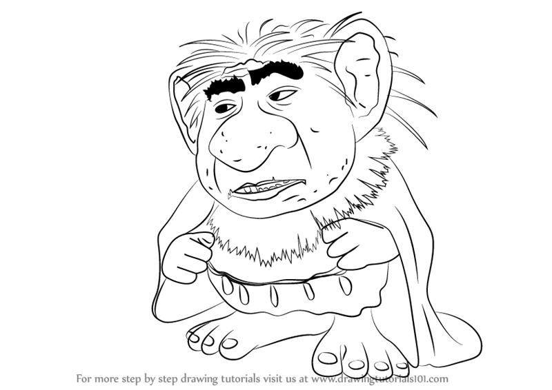 Learn How To Draw Grand Pabbie From Frozen Frozen Step By Step
