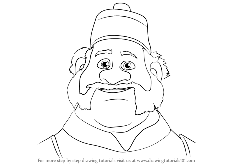 Learn How To Draw Oaken From Frozen Frozen Step By Step Drawing