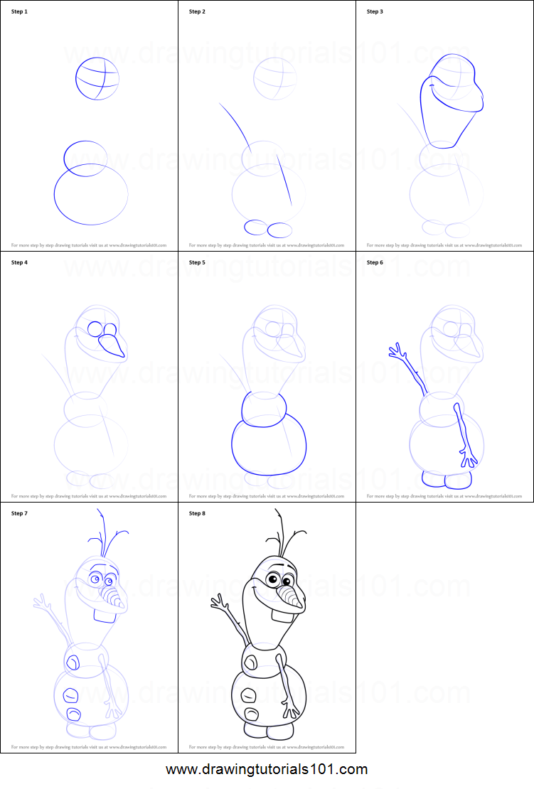 Uncategorized How To Draw Olaf Easy how to draw olaf from frozen printable step by drawing sheet drawingtutorials101 com