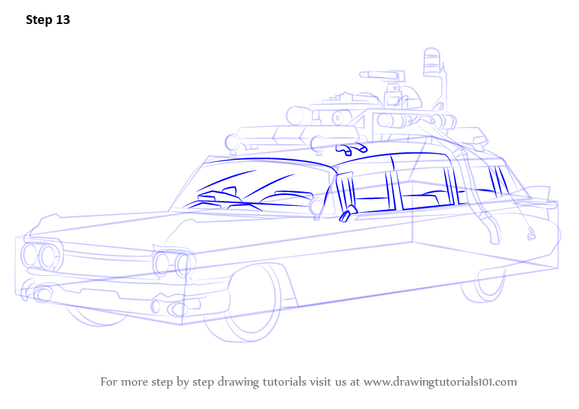 Learn How To Draw The Ghostbusters Car Ghostbusters Step By Step
