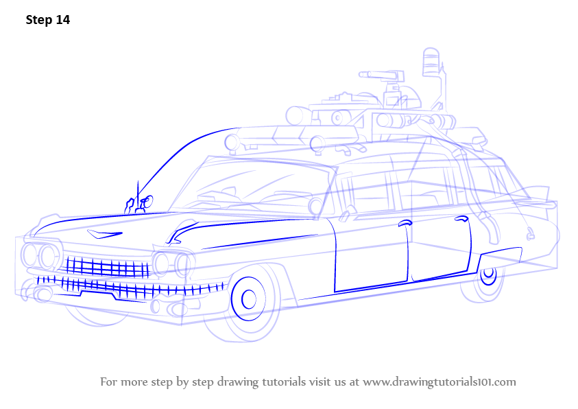 Learn How To Draw The Ghostbusters Car Ghostbusters Step