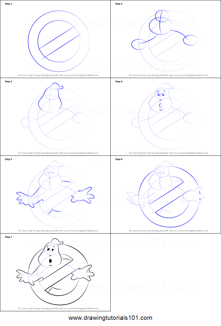 How To Draw Ghostbusters Logo Printable Step By Step Drawing Sheet