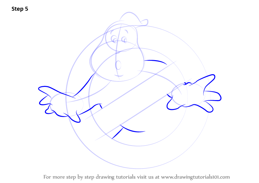 Learn How To Draw Ghostbusters Logo Ghostbusters Step By Step